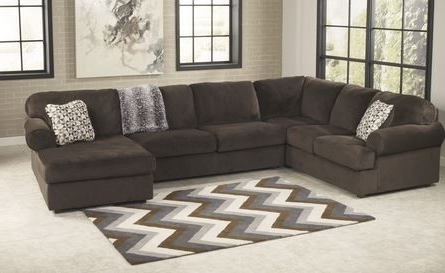 Most Recently Released Ashley Jessa Place Chocolate Sectional With Chaise Appliances For Clarksville Tn Sectional Sofas (View 10 of 10)