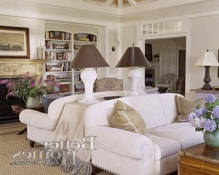 Most Recently Released Back To Back Couches With Console Table For Lamps (View 7 of 10)
