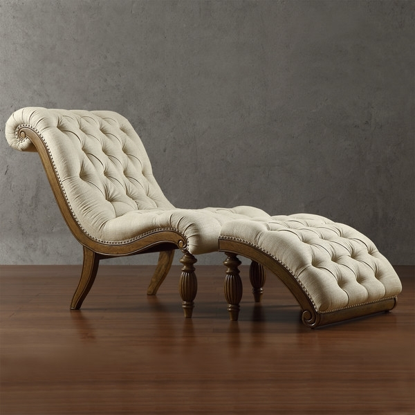 Most Recently Released Bellagio Beige Linen Button Tufted Curved Chaise Lounge With With Curved Chaise Lounges (View 13 of 15)
