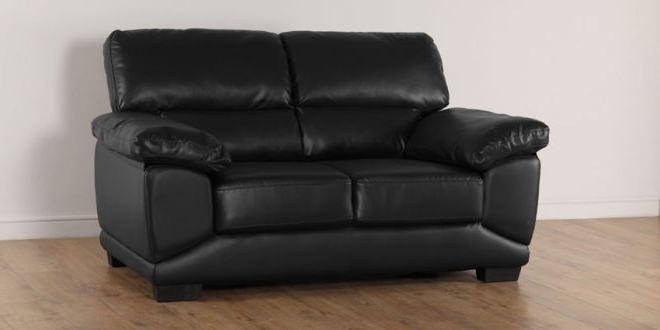 Featured Photo of Black 2 Seater Sofas