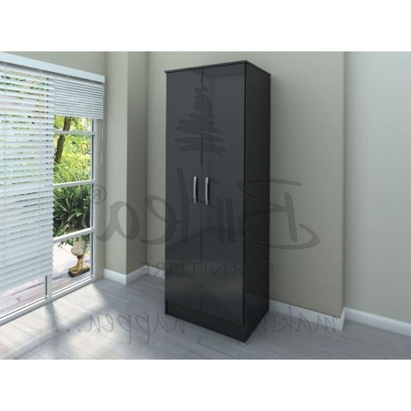 Most Recently Released Cheap Black Wardrobes Regarding Cheap Birlea Lynx Black 2 Door 2 Drawer Wardrobe For Sale At (View 11 of 15)