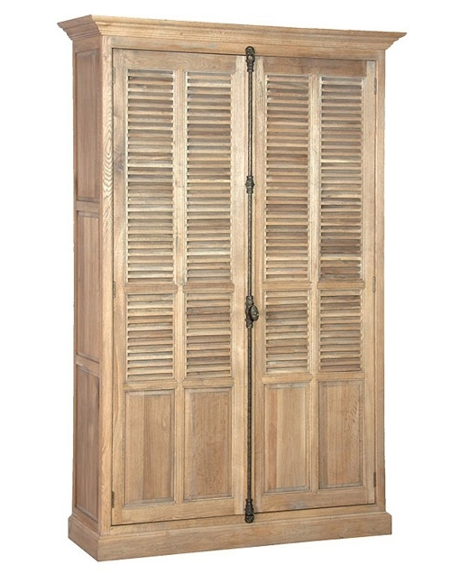 Most Recently Released Cheap French Style Wardrobes In French Style Oak Louvered Shallow Wardrobe – Buy From The Oak (View 11 of 15)