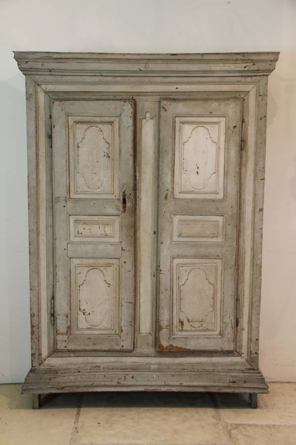 Most Recently Released Cream French Wardrobes With A Wonderful Early 19Th Century French Armoire In Original Paint (View 12 of 15)