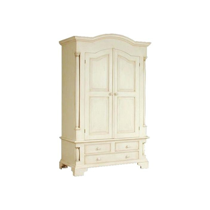 Most Recently Released French Wardrobe Armoire Rustic Antique French Style Wardrobe 331 With Regard To Armoire French Wardrobes (View 8 of 15)