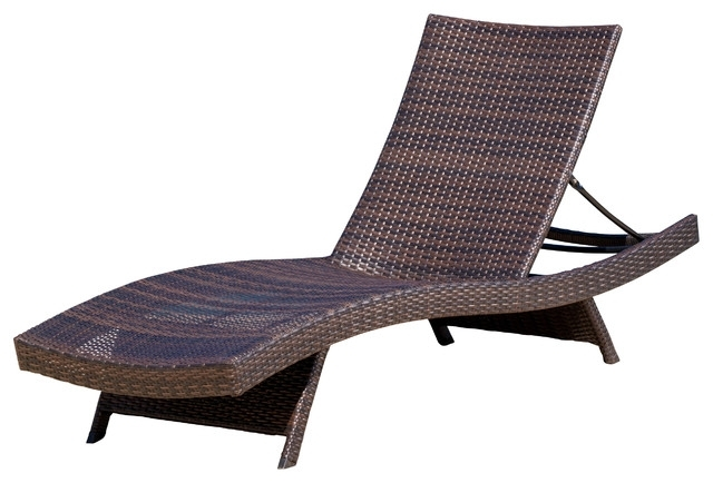 Most Recently Released Garden : Transitional Outdoor Chaise Lounges Lounge Chairs Garden Regarding Metal Chaise Lounge Chairs (View 8 of 15)