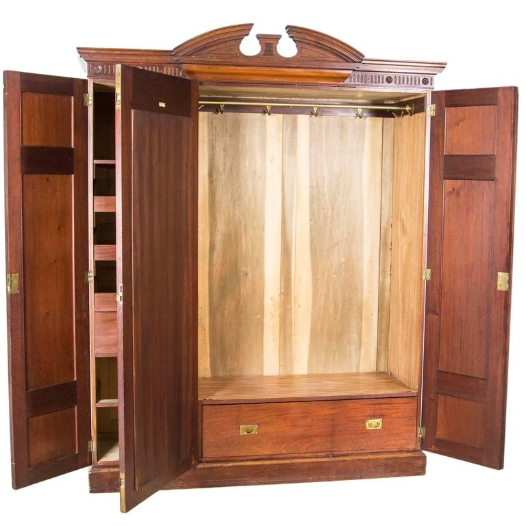 Most Recently Released Large Antique Scottish Victorian Three Door Walnut Armoire For Large Antique Wardrobes (View 11 of 15)