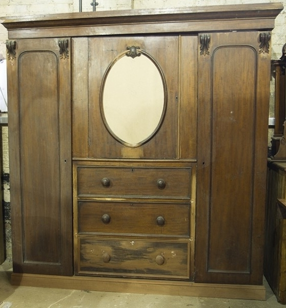 Most Recently Released Large Antique Wardrobes In Large Antique Wardrobe Armoire For Sale (View 12 of 15)