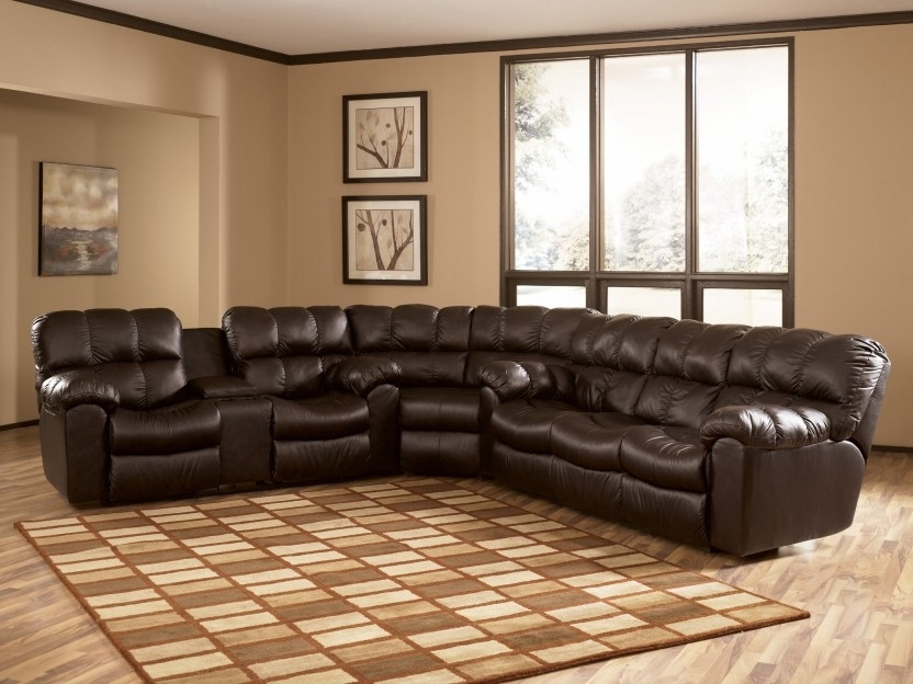 Most Recently Released Leather Recliner Sectional Sofas Throughout Lovable Reclining Leather Sectional Sofa Recliner Sectional Sofa (View 5 of 10)