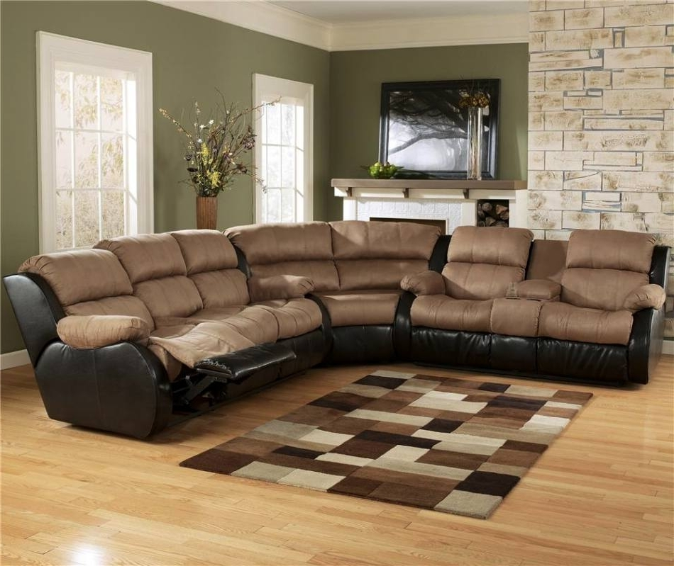 Most Recently Released Memphis Tn Sectional Sofas Pertaining To Ashley Furniture Presley – Cocoa 3 Piece Sectional Sofa With (View 2 of 10)