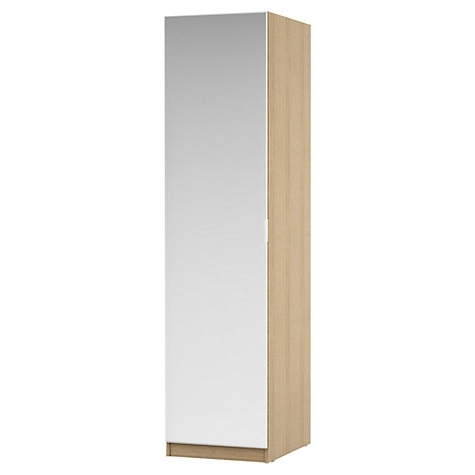 Most Recently Released Mirror Design Ideas: Double Drawer Single Wardrobe Mirror Door Regarding Single Wardrobes With Mirror (View 1 of 15)