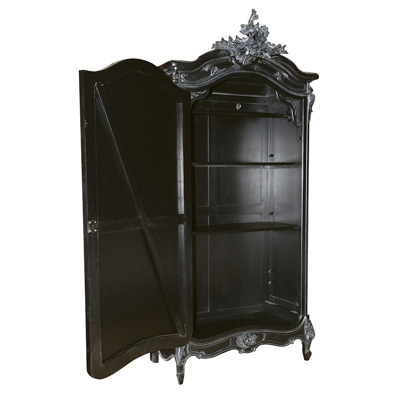 Featured Photo of Black French Style Wardrobes