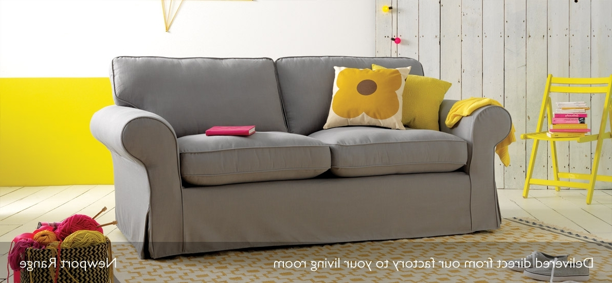 Most Recently Released Newport Loose Cover Fabric 3 Seater Sofa (View 2 of 10)