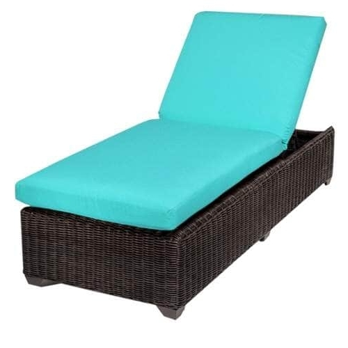 Most Recently Released Overstock Outdoor Chaise Lounge Chairs Throughout Miseno Mpf Vnce1X Mediterranean Aluminum Framed Outdoor Chaise (View 6 of 15)