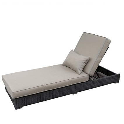 Most Recently Released Patio Chaise Lounge Chairs Inside Amazon: Abba Patio Outdoor Rattan Wicker Adjustable Pool Patio (View 7 of 15)