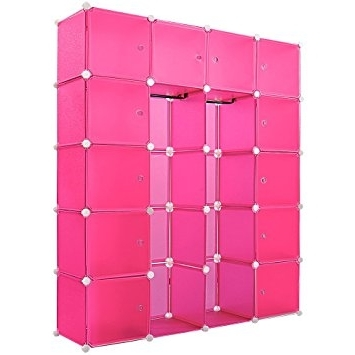 Most Recently Released Plastic Wardrobes Box With Plastic Wardrobe Storage Box Cube Interlocking Diy Clothes Hanging (View 8 of 15)