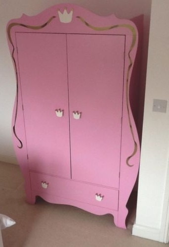Most Recently Released Princess Wardrobes Throughout Pink Princess Wardrobe And Bedside Tables (View 2 of 15)