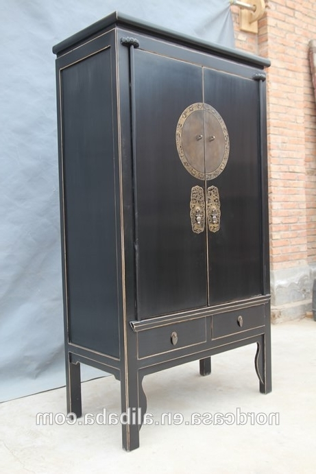 Most Recently Released Red Or Black Chinese Wedding Tall Antique Cabinet In Reclaimed Within Chinese Wardrobes (View 12 of 15)