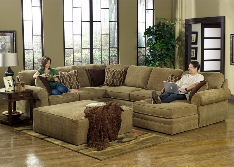 Most Recently Released Sectionals With Oversized Ottoman Throughout Oversized Sectionals Beautifull Furniture Raegan Green With (View 2 of 10)