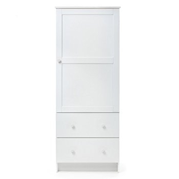 Most Recently Released Single White Wardrobes With Drawers Inside Obaby Single Wardrobe (White): Amazon.co.uk: Baby (Gallery 5 of 15)