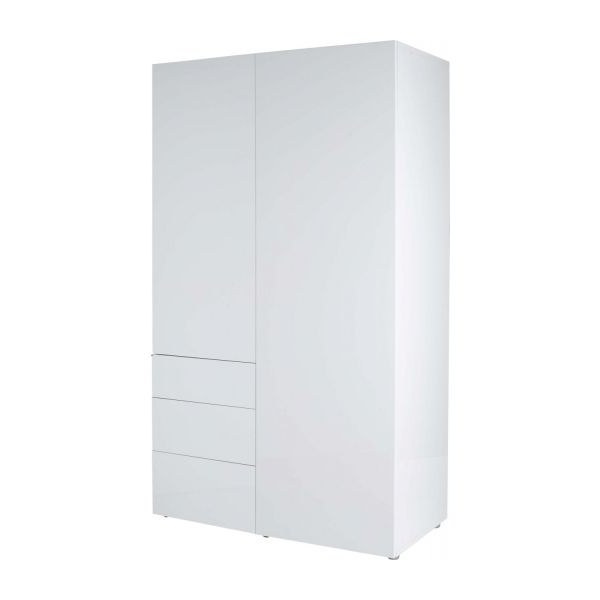 Most Recently Released Tall White Gloss Wardrobes With Perouse – High Gloss Wardrobe With 3 Doors – Habitat (View 8 of 15)