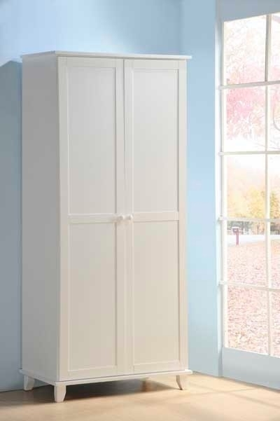 Most Recently Released Two Door White Wardrobes Intended For Maple Or White Two Door Wardrobesleepland Beds (View 6 of 15)