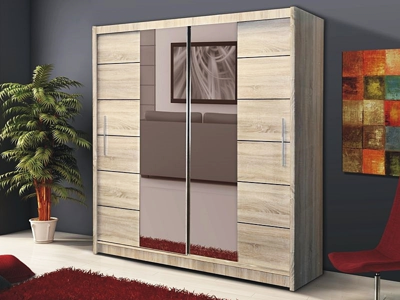Most Recently Released Wardrobes Mirror Sliding Door Wardrobe With Compartments Wardrobes Intended For Cheap Wardrobes With Mirror (View 9 of 15)