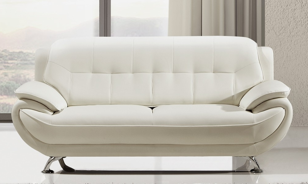 Most Recently Released White Leather Sofas In Decorating Soft Leather Sofa Set White Settee Loveseat White (View 4 of 10)