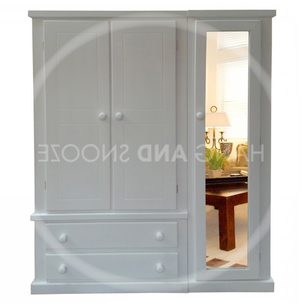 Most Recently Released White Triple Full Mirrored Wardrobe Pertaining To Triple Mirrored Wardrobes (View 5 of 15)