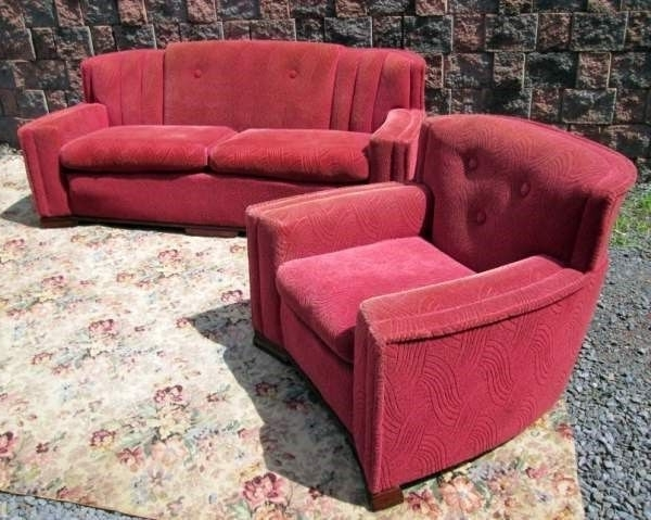 Most Up To Date 1930S Sofas Within Vintage 1930S Art Deco Home Sculpted Living Room Sofa & Chair (View 6 of 10)