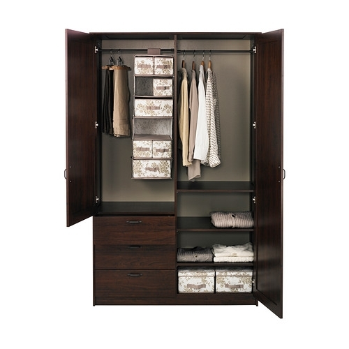 Most Up To Date 2 Door Wardrobes With Drawers And Shelves Within Musken Armoire 2 Portes+3 Tiroirs Ikea Les Tablettes Réglables (View 12 of 15)