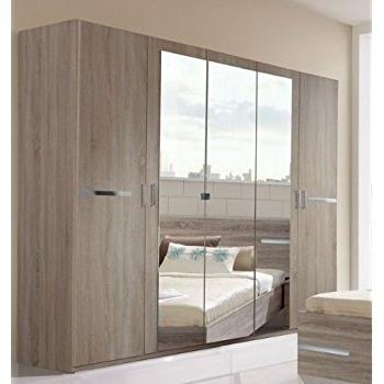 Most Up To Date 5 Door Wardrobes Bedroom Furniture Within Germanica Bavari Bedroom Furniture: 5 Door Wardrobe In Mirrored (View 12 of 15)