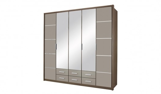 Most Up To Date 5 Door Wardrobes With Regard To Mirabel 5 Door + 6 Drawer + 3 Mirror Wardrobe (View 10 of 15)