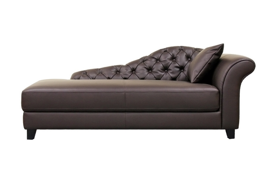 Most Up To Date Black Leather Chaise Lounge Chairs In Black Leather Chaise Lounge (View 12 of 15)