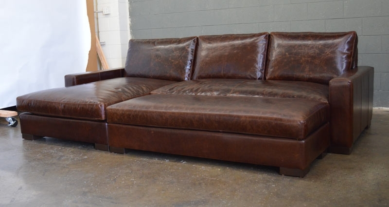 Most Up To Date Braxton Sofa Chaise Sectional In Italian Brompton Cocoa  (View 7 Of