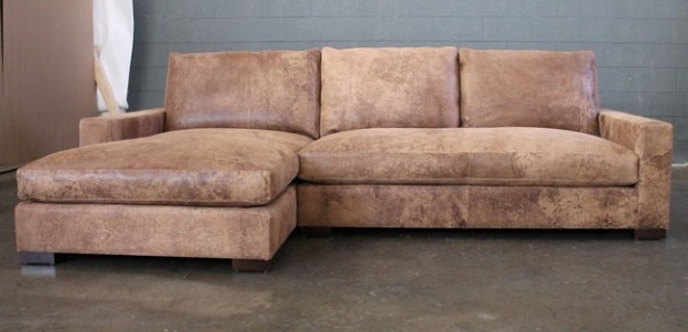 Most Up To Date Braxton Sofa Chaise Sectional In Italian Destroyed Leather Throughout Braxton Sofas (View 9 of 10)