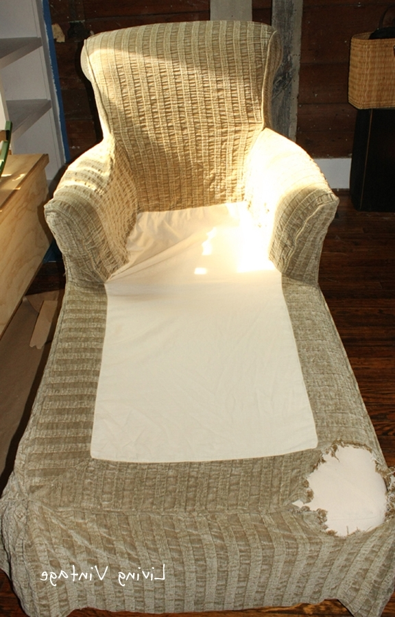 Most Up To Date Chaise Slipcovers Pertaining To Unique Way To Repair A Slipcover – Living Vintage (View 8 of 15)