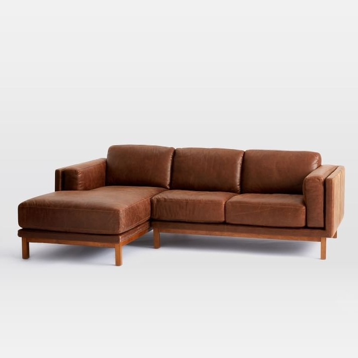 Most Up To Date Chaise Sofa Sectionals Pertaining To Dekalb Leather 2 Piece Chaise Sectional (View 12 of 15)