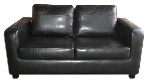 Most Up To Date City Black Faux Leather Sofa Bed Inside City Sofa Beds (View 6 of 10)