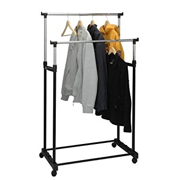 Most Up To Date Freestanding Double Clothes Rail: Amazon.co (View 8 of 15)