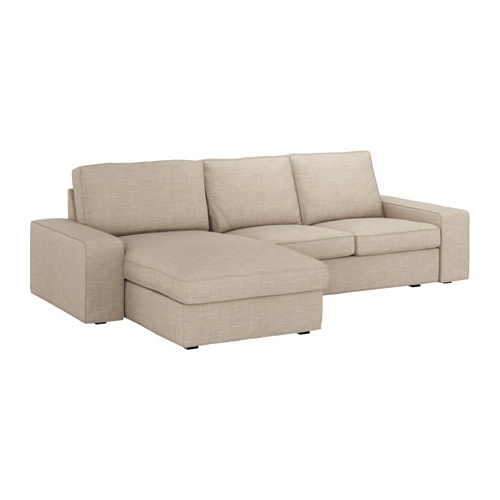 Most Up To Date Kivik Sofa – With Chaise/hillared Beige – Ikea For Ikea Chaise Couches (View 9 of 15)