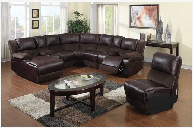 Most Up To Date Leather Sectionals With Chaise Pertaining To Impressive Leather Sectional Sofa Chaise F Brown Microfiber (View 12 of 15)