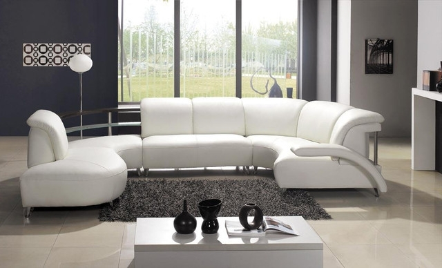 Most Up To Date Modern U Shaped Sectionals For Sectional Sofa Design: Awesome U Shaped Leather Sectional Sofa (View 5 of 10)