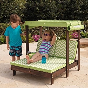 Most Up To Date Outdoor Chaise Lounge Chairs With Canopy With Regard To Amazon: Kidkraft Outdoor Double Chaise Lounge Chair With (View 6 of 15)