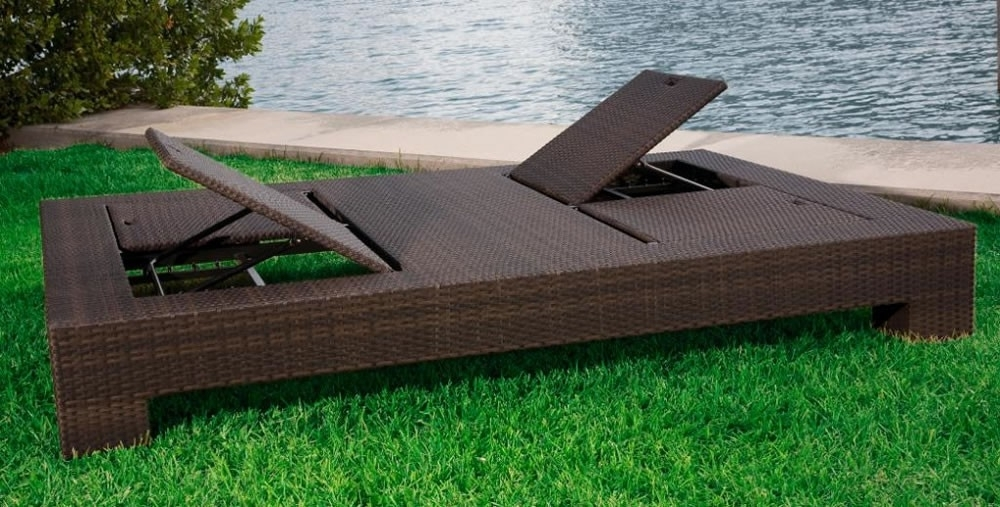 Most Up To Date Outdoor Wicker Chaise Lounges Intended For Source Outdoor King Wicker Double Chaise Lounge – Wicker (View 15 of 15)