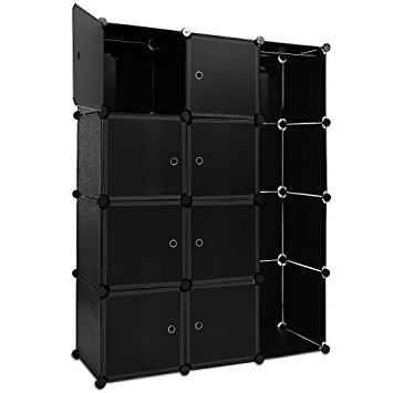 Most Up To Date Plastic Wardrobes Box Pertaining To Black Plastic Wardrobe Storage Box Cube With Clothes Rail Storage (View 13 of 15)