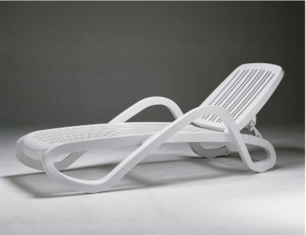 Most Up To Date Pool Furniture Supply. White Eden Plastic Resin Chaise Lounge, 31 Lbs (View 11 of 15)