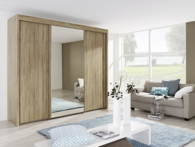 Most Up To Date Rauch Imperial 3 Door Sliding Wardrobe In Sanoma Oak – Wardrobes In Imperial Wardrobes (View 11 of 15)