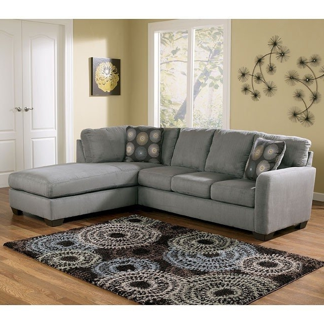 Most Up To Date Right Facing Chaise Sectionals Intended For Zella – Charcoal Right Facing Chaise Sectional Signature Design (View 4 of 15)