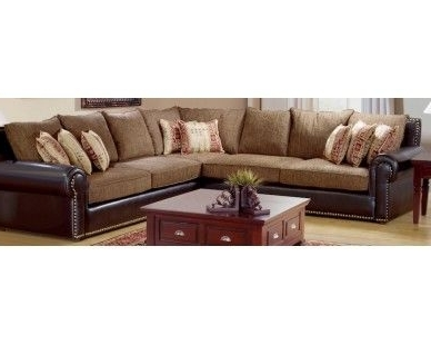 Most Up To Date Rustic 3Pc Sectional – Faux Leather – Sam Levitz Furniture (View 6 of 10)