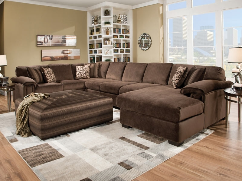Most Up To Date Sectionals With Chaise And Ottoman Throughout Sofa : Beautiful Large Sectional Sofa With Chaise L Shaped Cream (View 4 of 10)